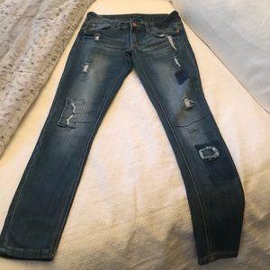 Ripped Skinny Medium Wash Jeans